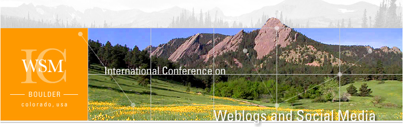 International Conference on Weblogs and Social Media